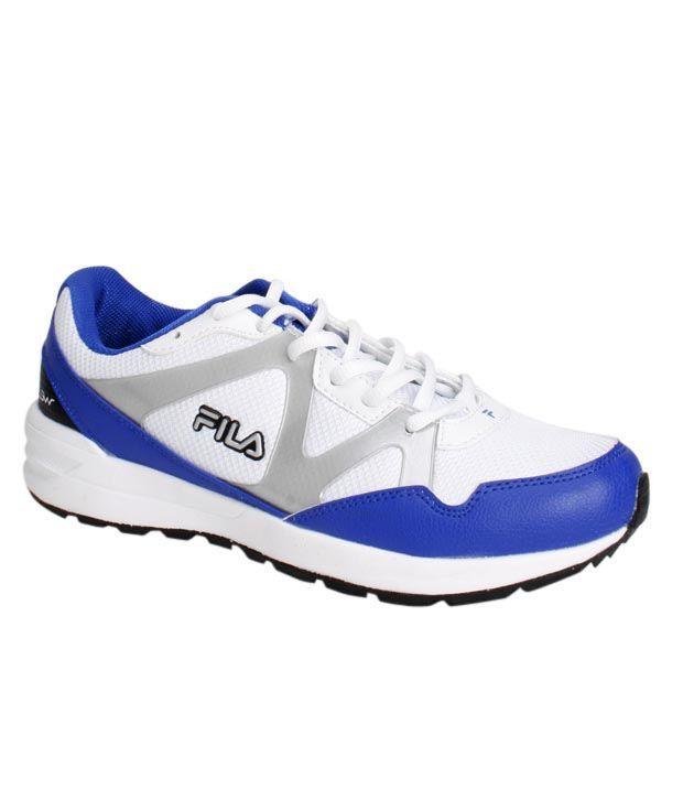 Fila Winner White & Royal Blue Sports Shoes