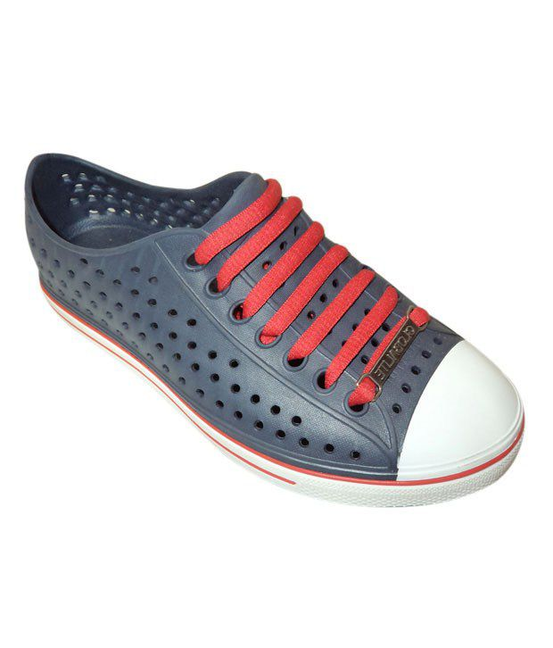 Globalite Spots Dark Blue & Red Casual Shoes