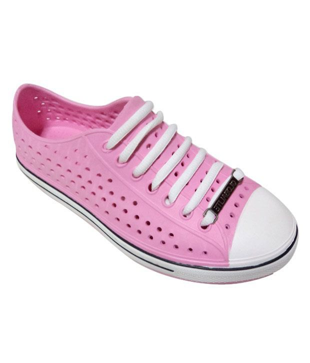 Globalite Spots Pink & White Casual Shoes