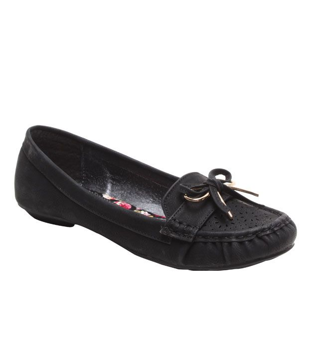 Jove Black Bow Moccasins