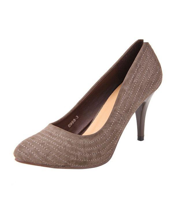 Jove Brown Mid Heeled Court Shoe