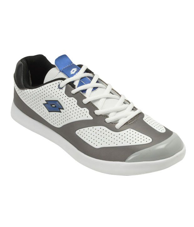 Lotto Enthusiastic White & Grey Sport Shoes