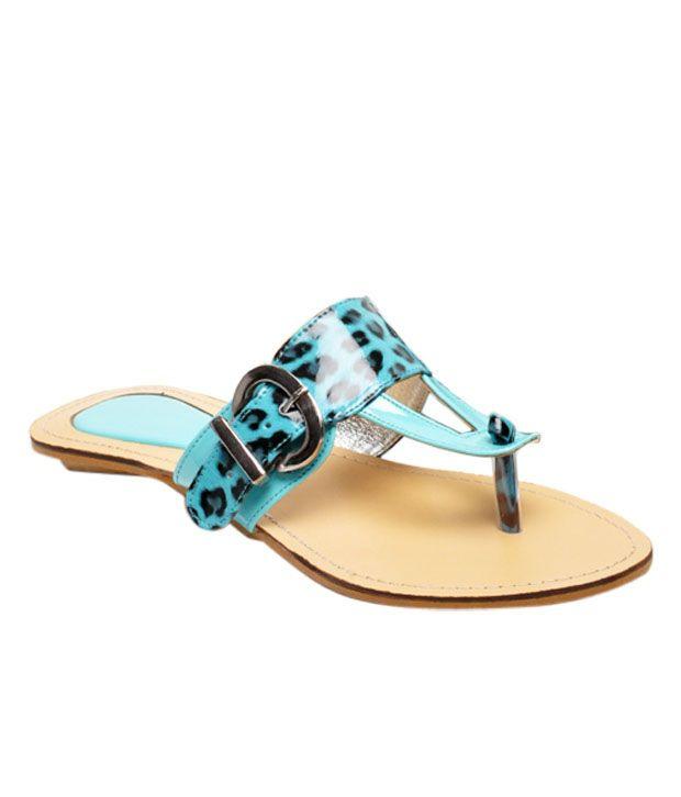 Martini Stylish Sea Blue Slippers