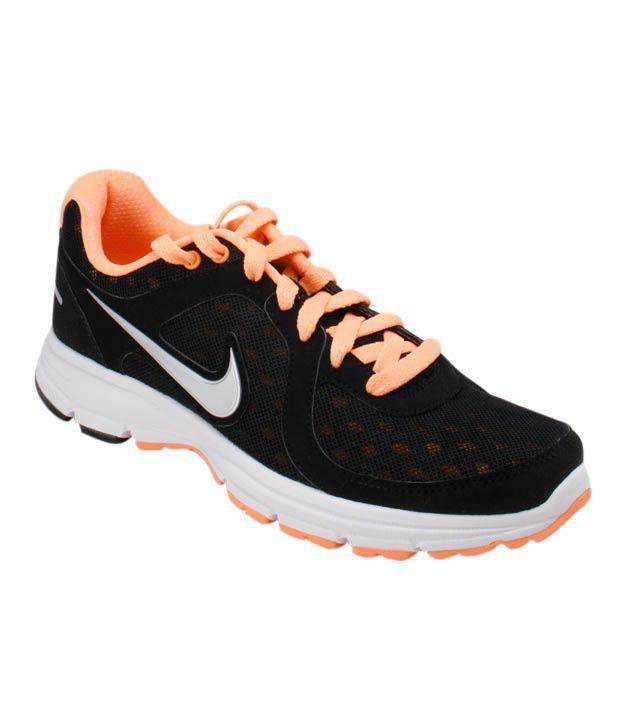 Nike Air Relentless Black & Orange Running Shoes