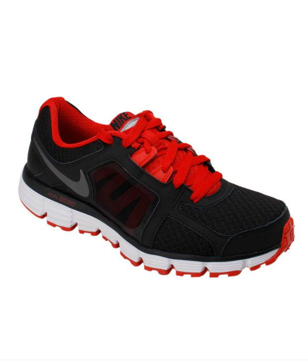 Nike Dual Fusion Black & Red Running Shoes