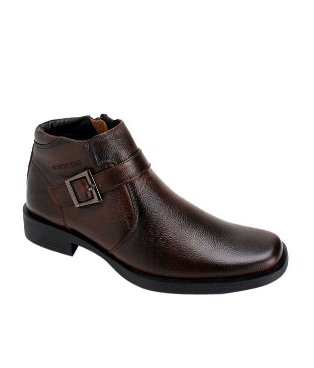 Numero Uno Brown High Ankle Boots ...
