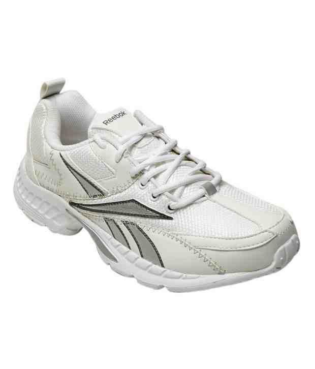 Reebok Advantage Runner White & Silver Sports Shoes
