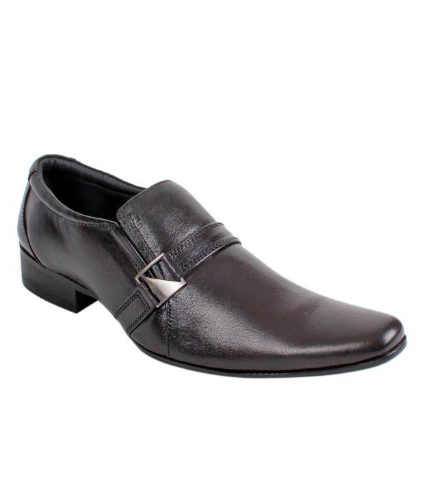 San Frissco Black Formal Shoes