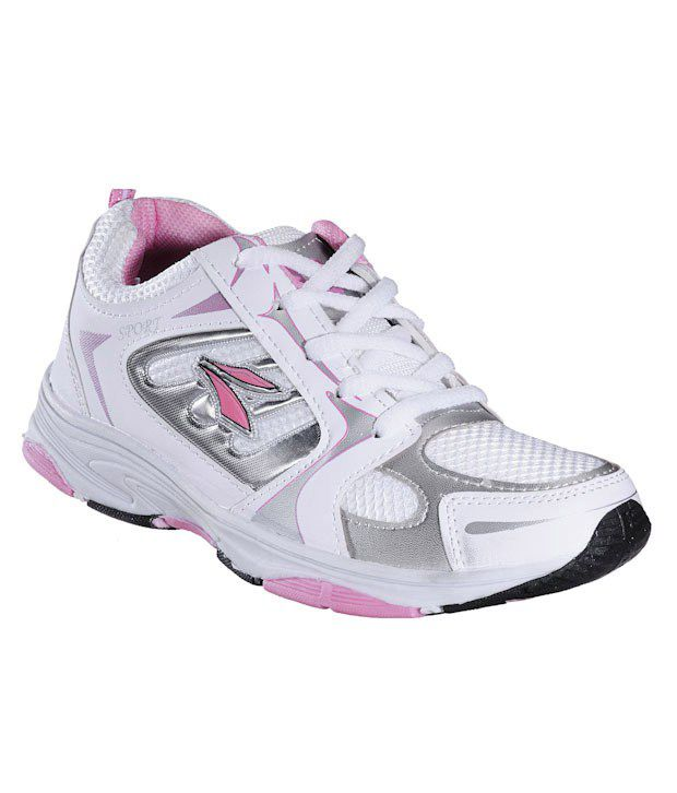 Universal Lively White & Pink Running Shoes