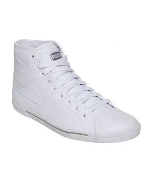 puma white high ankle shoes - 57% OFF