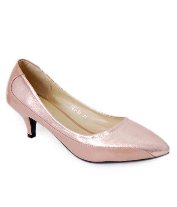 Anand Archies Cute Pink Heeled Ballerinas