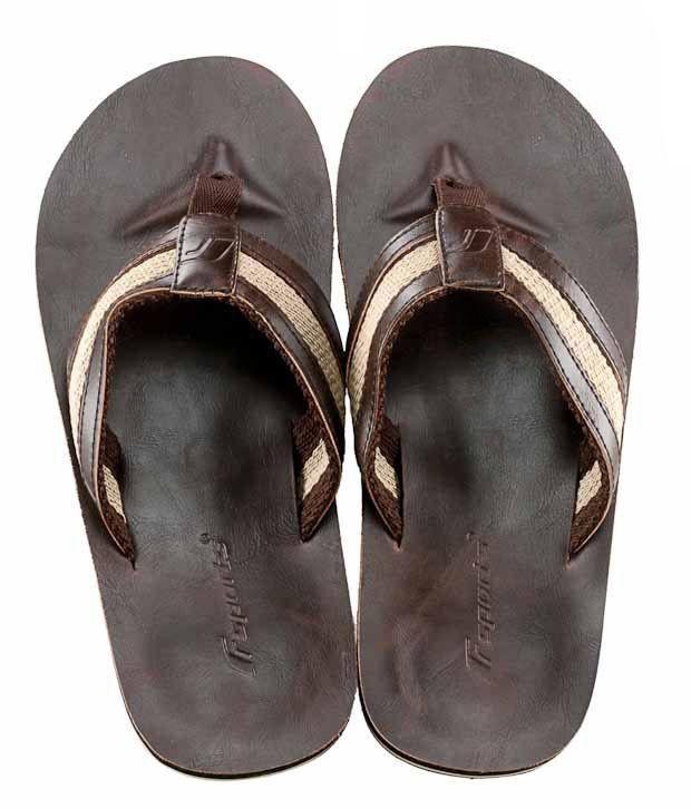 F Sports Echo Dark Brown Slippers
