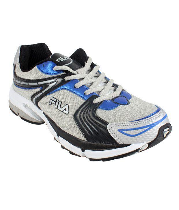 Fila Leap Grey & Blue Running Shoes