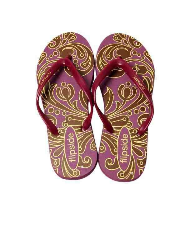 Flipside Classic Purple & Maroon Flip Flops