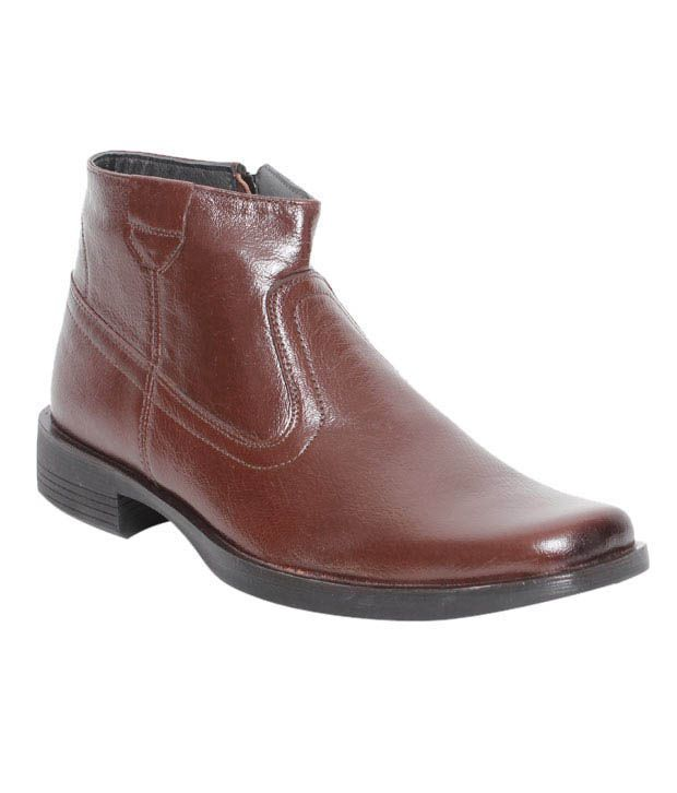 Kennady Brown High Ankle Length Boots