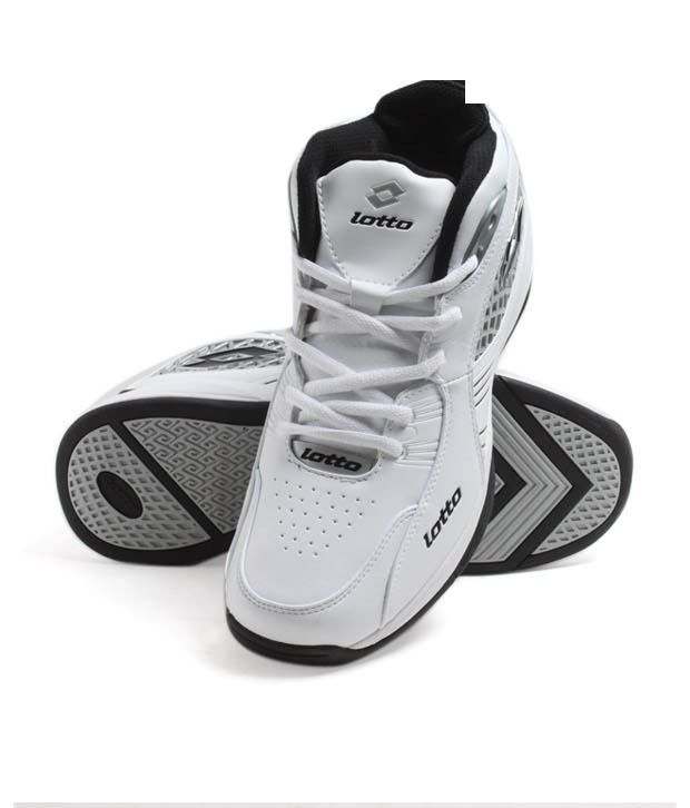 Lotto Sporty White Lace-Up Shoes