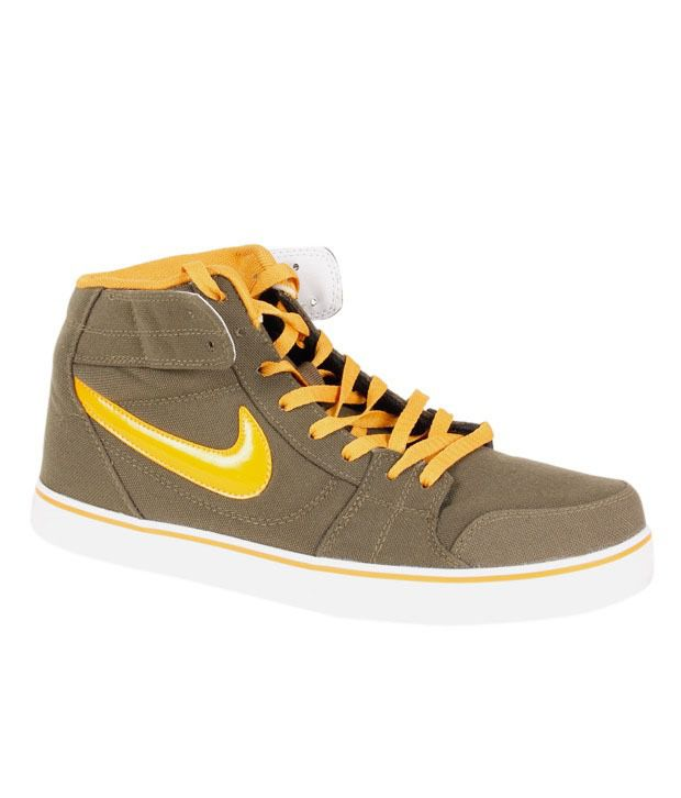 fa354e9d2a3b Nike Liteforce Mid Olive Green   Yellow Running Shoes - Buy Nike Liteforce  Mid Olive Green   Yellow Running Shoes Online at Best Prices in India on  Snapdeal