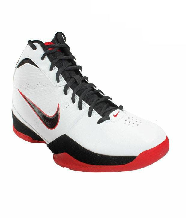 Nike Vigorous White & Black Basketball Shoes