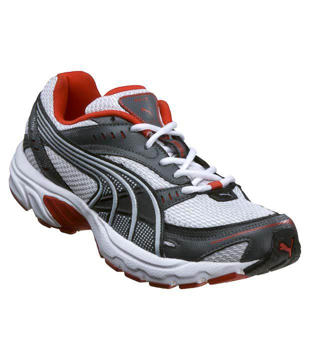 Puma Axis White \u0026 Grey Running Shoes