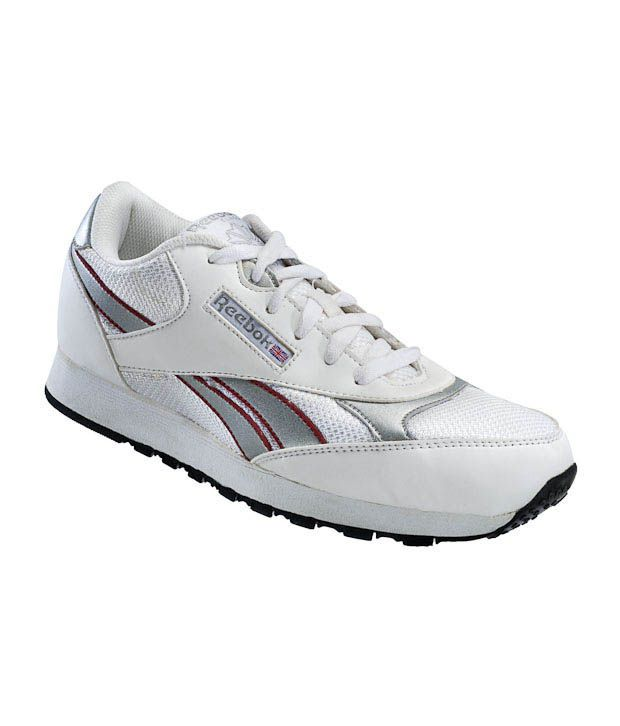 Reebok Innova White & Silver Jogging Shoes