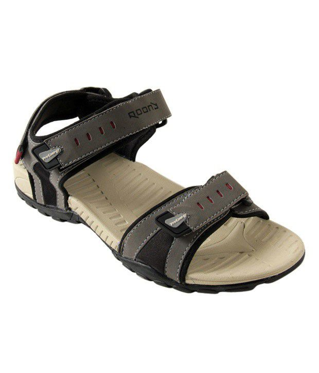 Roony Gray Floater Sandals
