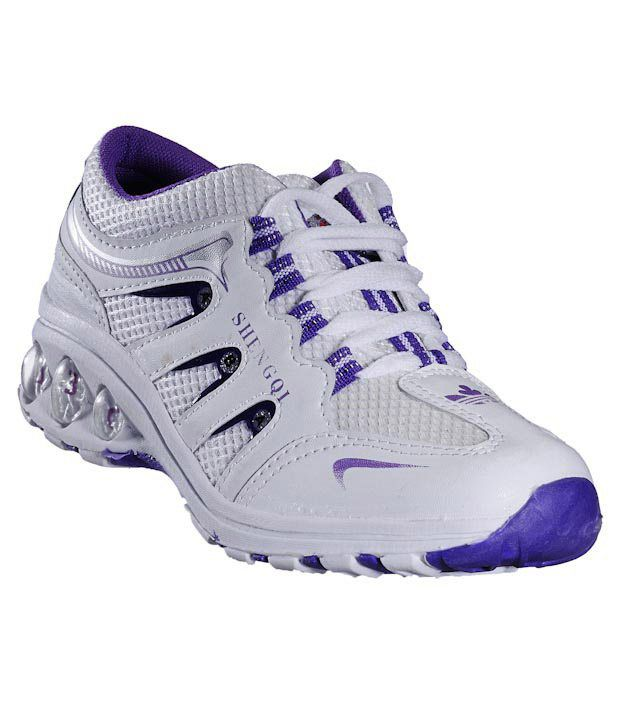 Universal Active White & Violet Running Shoes