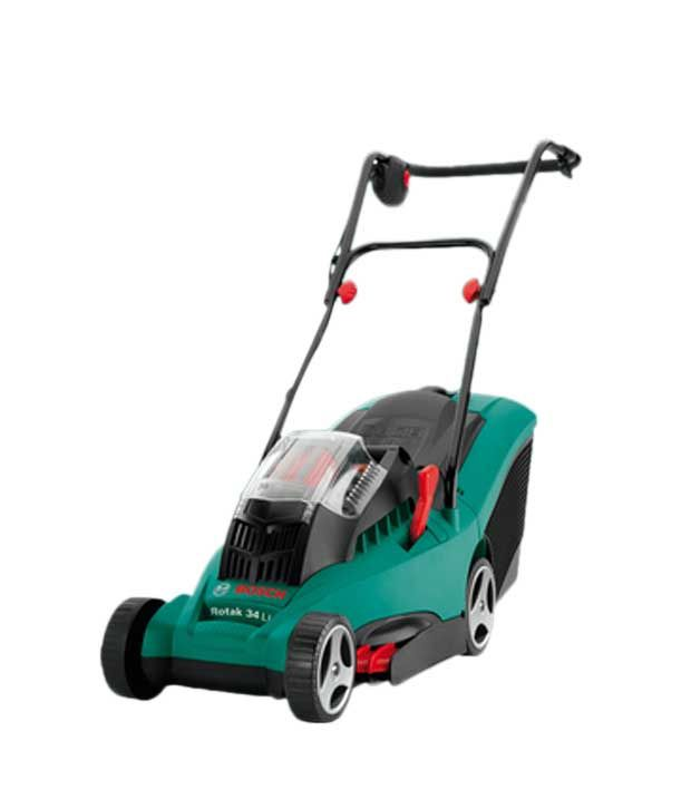 bosch cordless lawnmower rotak 34 li buy bosch cordless lawnmower rotak 34 li online at low. Black Bedroom Furniture Sets. Home Design Ideas