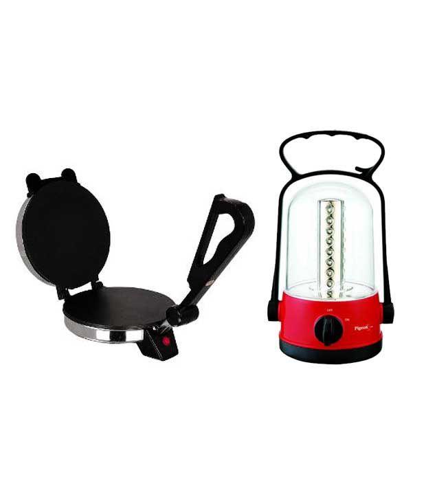 Cripton Roti Maker + Pigeon Emergency Lamp Dhruv Combo