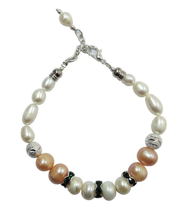 Pearlz Ocean Glimmer Fresh Water Pearl Bracelet