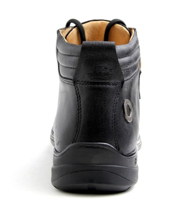 8f65f70e5a210e Red Chief Black High Ankle Length Boot - Buy Red Chief Black High ...