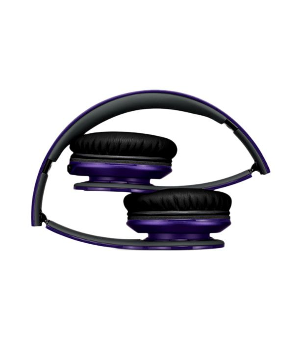 34c901a7465 Buy Beats Solo HD Over Ear Headphones with Mic (Purple) Online at Best Price  in India - Snapdeal