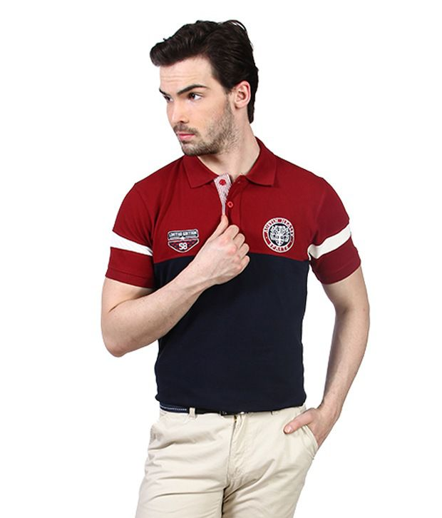 Proline Red Austin Healey Pattern Polo T Shirt