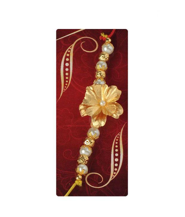 Aarya24kt Gold Foil Rakhi