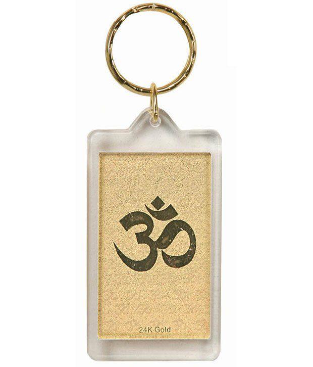 Aarya24kt Om Keychain