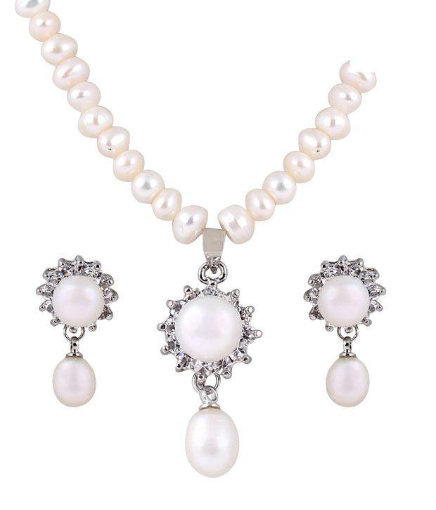 Deccan Pristine Fresh Water Pearl Necklace Set