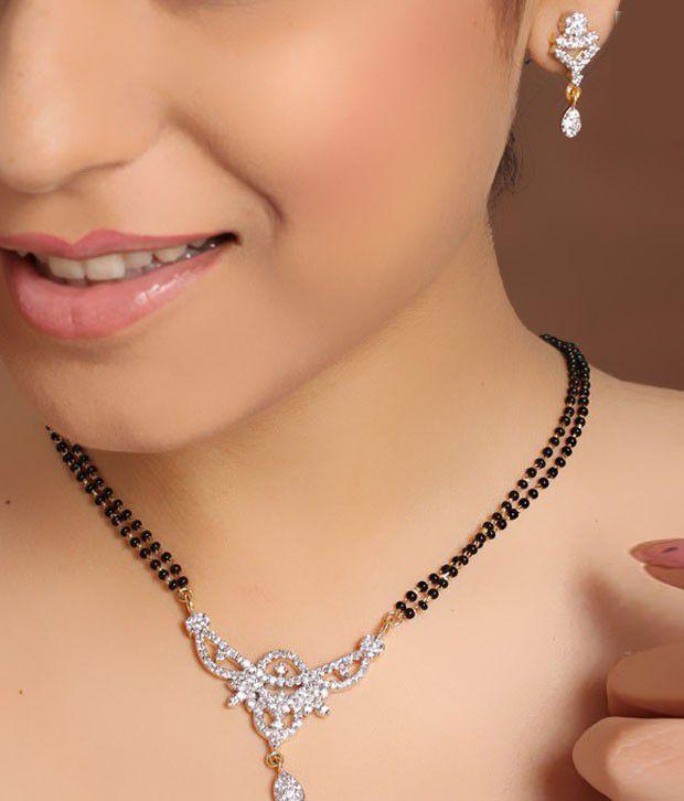 Diva Charming American Diamond Mangal Sutra Set