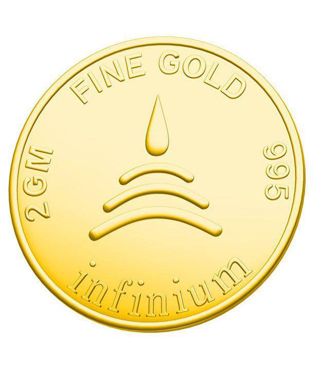 Infinium 24kt 2g 995 Purity BIS Hallmarked Flower Gold Coin