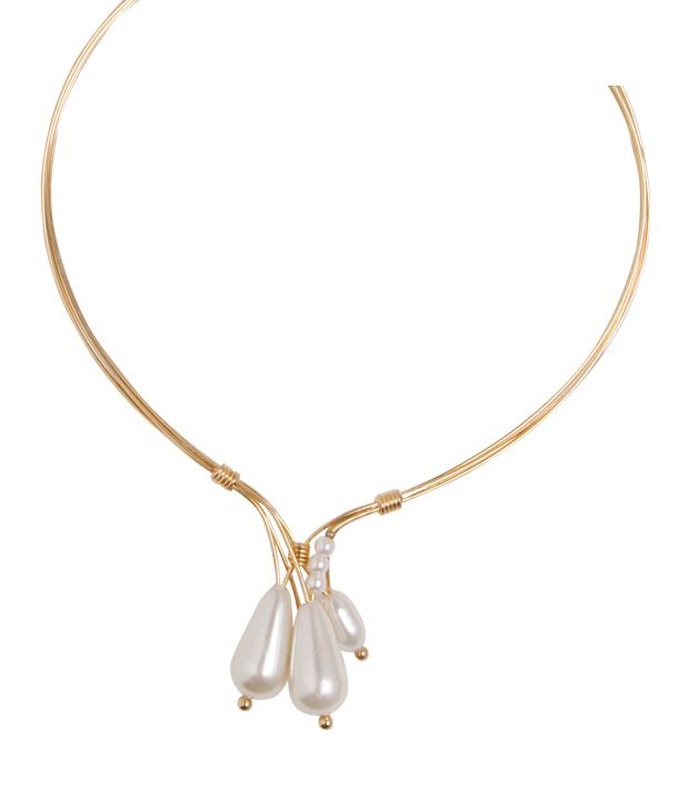 Jazz  White Drops Choker Necklace