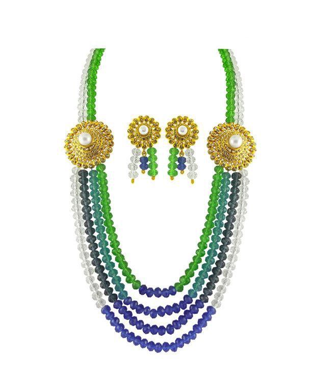 Sri Jagdamba Pearls MultiColoured Bridal Set