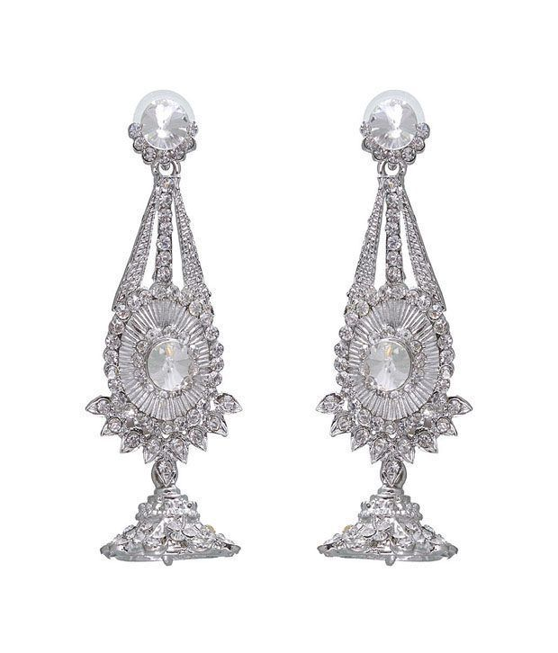 Kriaa Fabulous White Earrings