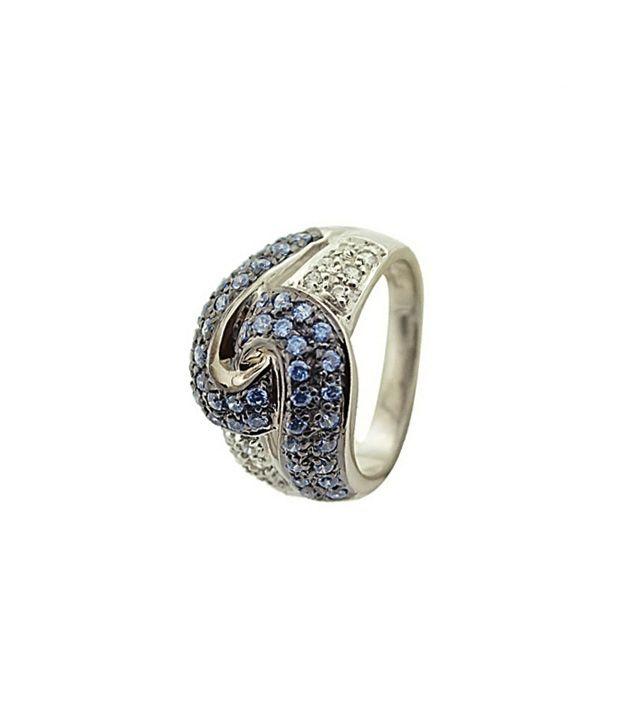 Kuhjohl Silver Swarovski Crystal Ring