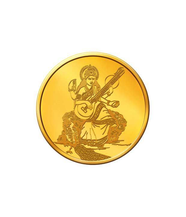 MNC 20 Gm 24kt Hallmarked Goddess Saraswati Gold Coin With 995 Fineness
