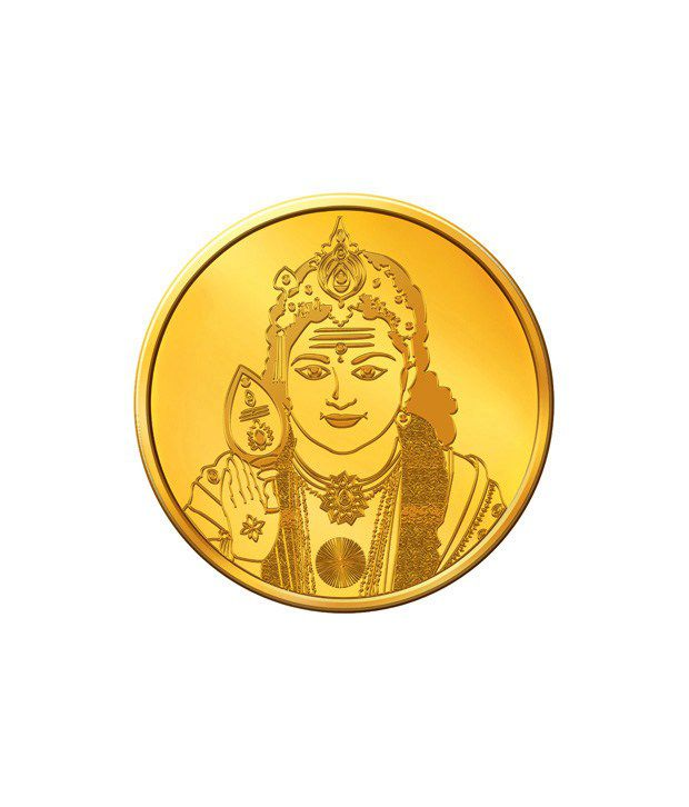 MNC 20 Gm 24kt hallmarked Lord Muruga Gold Coin With 995 Fineness