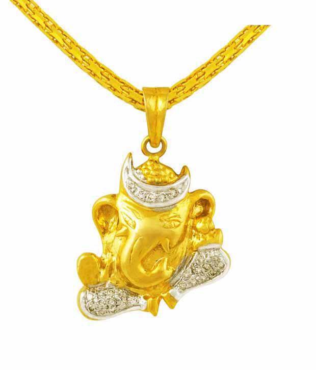 Mehrasons Diamond Ganpati Pendant