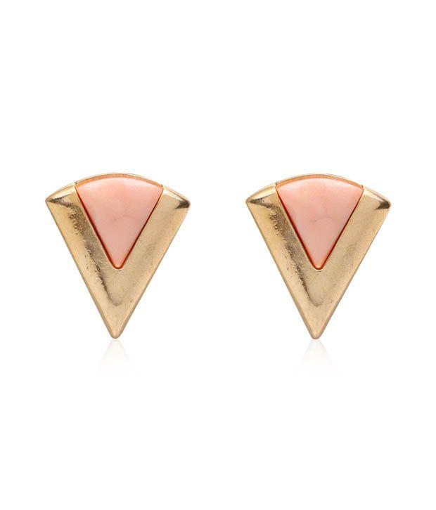 Pari Exclusive Golden & Pink Earrings