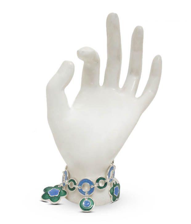 Pari Fancy Floral Designer Charm Bracelet