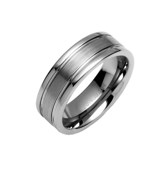 Peora Double Groove Tungsten  Carbide Ring