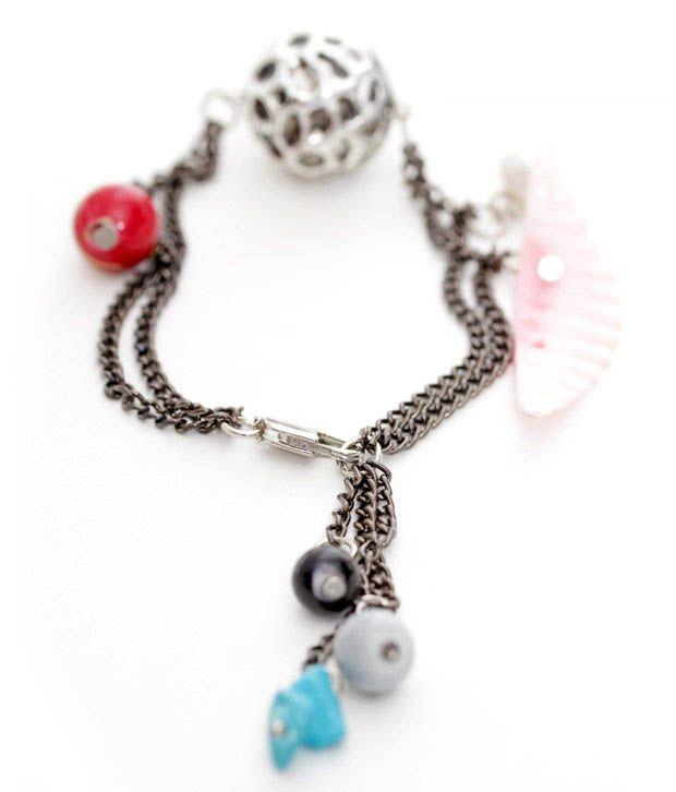 Pretty Woman Colourful Bead Charm Bracelet