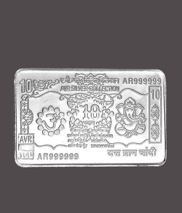 Revlis 10 Gram Rectangle Silver Coin Note10 Buy Revlis