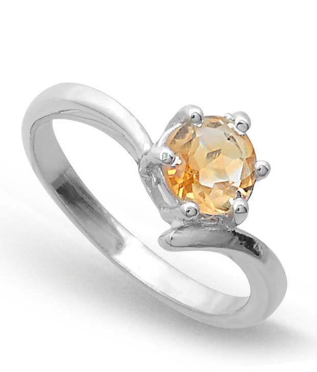 Revlis Verona Citrine Silver Ring